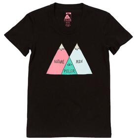 POLER Venn T-Shirt Dames, zwart